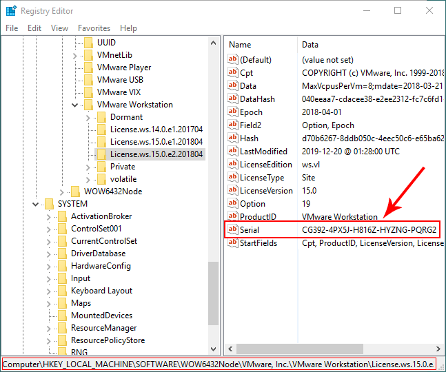 How to Find the License Key of Installed VMware Workstation